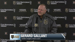 Coach Gerard Gallant Speaks After Morning Skate
