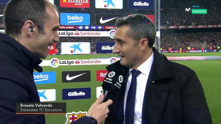 Declaraciones de Ernesto Valverde tras conquistar la Liga
