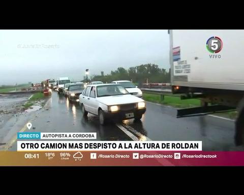 Cuatro camiones involucrados en dos accidentes en la autopista a Córdoba