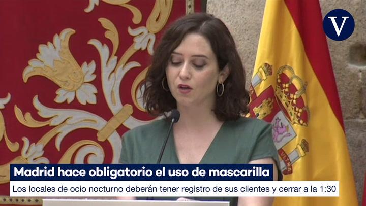 Madrid hace obligatorio el uso de mascarilla