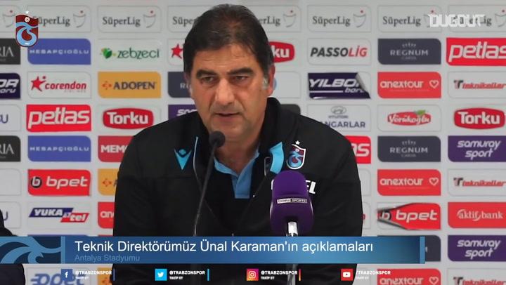 Ünal Karaman Antalyaspor Maçı Sonrası Konuştu