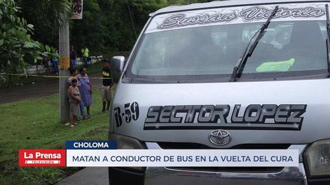 Matan a conductor de bus en la autopista a Puerto Cortés