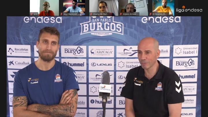 Rueda de prensa conjunta de Peñarroya y Javi Vega (San Pablo Burgos)