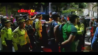 Un policía herido de bala y varios aficionados de Marathón detenidos tras el final del clásico