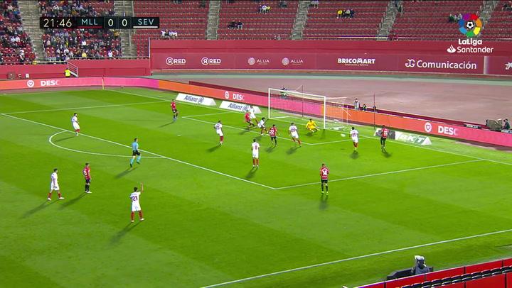 Gol de Antonio Sánchez (1-0) en el Mallorca 1-1 Sevilla