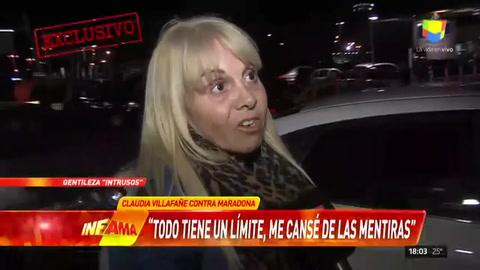 Claudia disparó contra Maradona: No es la persona que conocí
