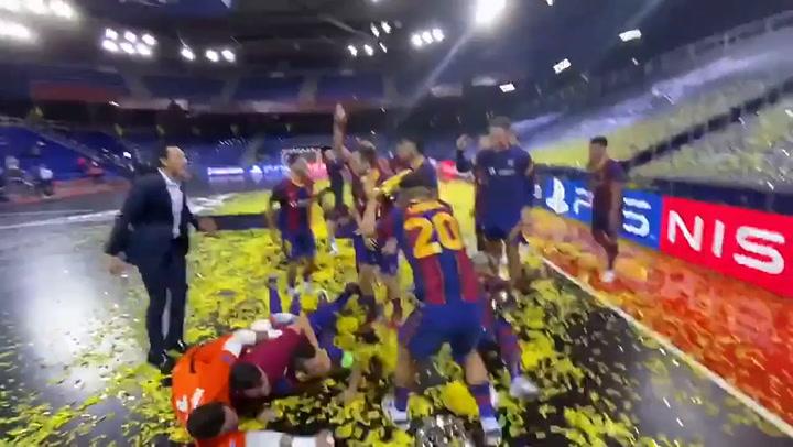 Así fue la celebración de los campeones en el vestuario tras conquistar la Copa de Europa