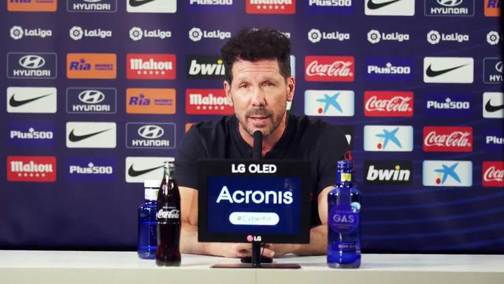 Repasa las declaraciones de Simeone en la rueda de prensa previa al partido ante el Barça