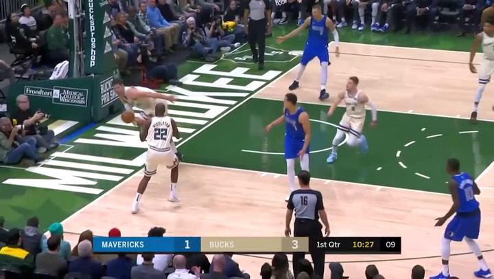 Giannis Antetokounmpo (Bucks), el más destacado de la jornada de la NBA del 16 de diciembre 2019