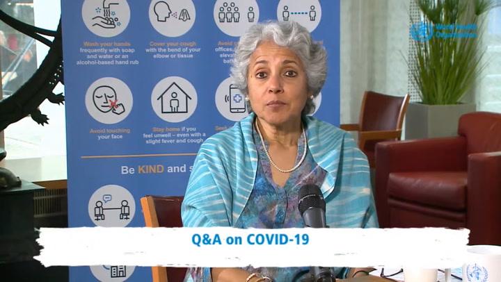 """La doctora Soumya Swaminathan:  """"Una persona joven y saludable tendrá que esperar hasta 2022 para ser vacunada"""""""