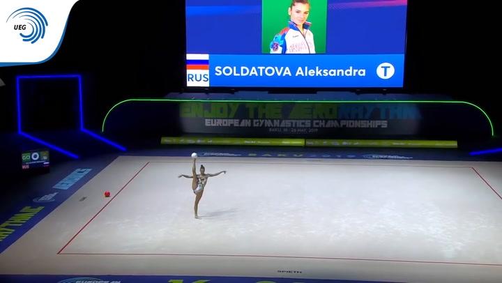Aleksandra Soldatova fue plata en los últimos Europeos de Bakú en 2019