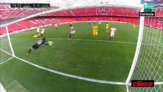 Bono le negó el gol a Antony Lozano en la derrota del Cádiz ante Sevilla (3-0)