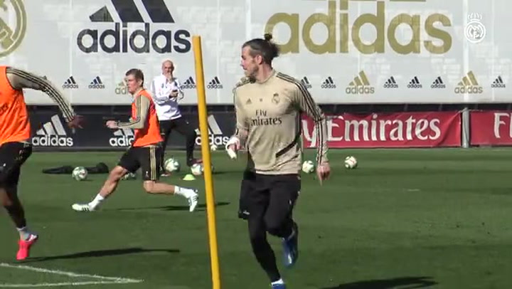 Real Madrid: Bale y Jovic realizan una parte del entrenamiento con el grupo