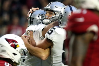 Raiders players talk about the team's win over Cardinals