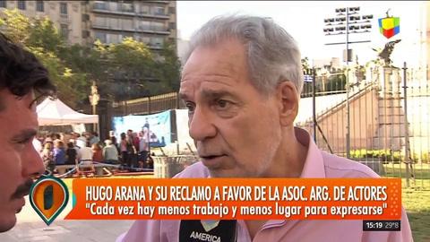 Reclamo de la Asociación Argentina de Actores por la falta de trabajo