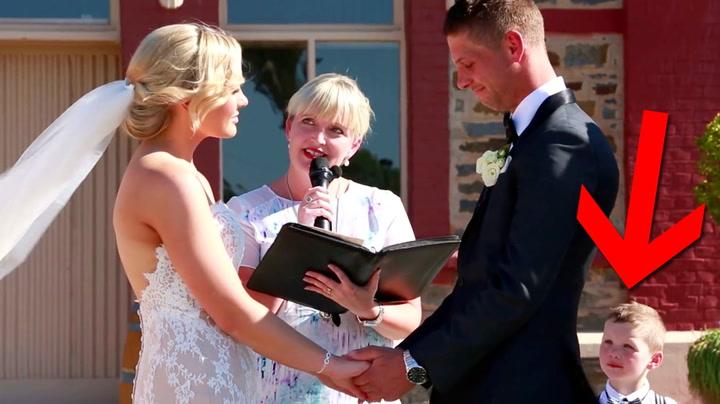 Nøden 3-åring «driter ut» foreldrene midt i bryllupet