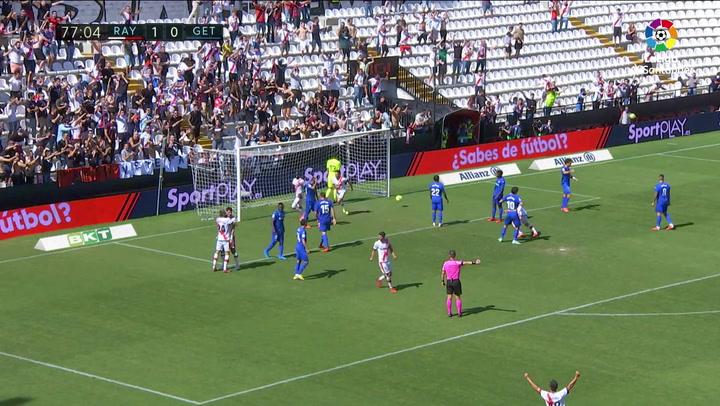 Gol de Pathe Ciss (2-0) Rayo Vallecano 3-0 Getafe