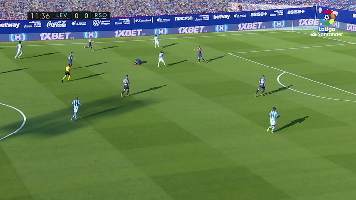 Gol de Isak (0-1) en el Levante 1-1 Real Sociedad