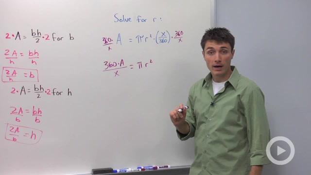 Solving Formulas - Problem 2