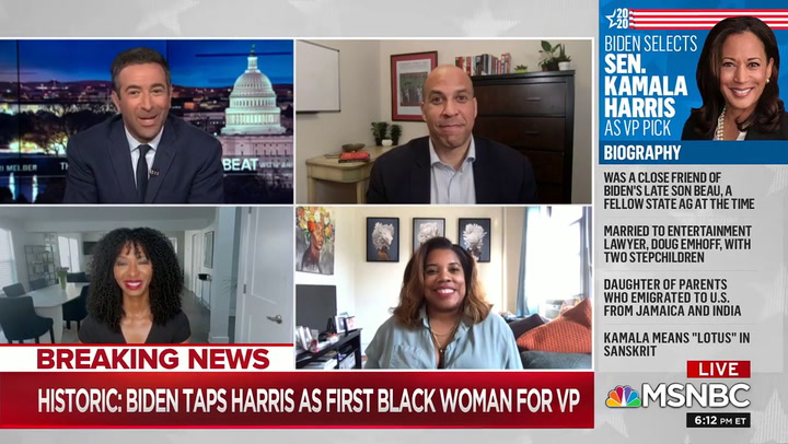 Booker: Biden Harris Ticket Will Help Us Get to the Mountaintop