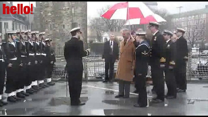 The Prince of Wales pays tribute to the crew of HMS Liverpool in Bergen