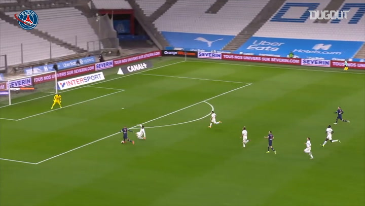 Kylian Mbappé opens scoring against Marseille in Le Classique