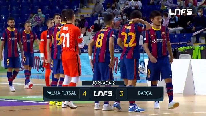 LNFS: Palma Futsal-Barça 4-3 (jornada 2 Temp 20-21)