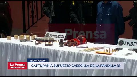 Capturan a supuesto cabecilla de la Pandilla 18 en Tegucigalpa