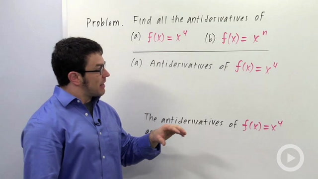 Antidifferentiation - Problem 2