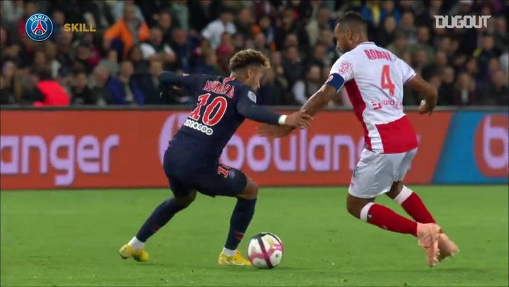 Neymar's Skills Vs Monaco