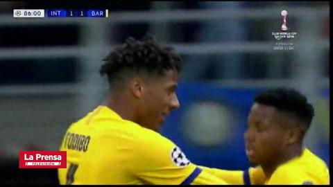 Ansu Fati hace historia en la Champions League