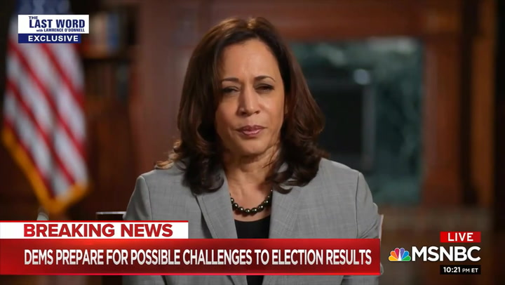 Harris: 'I'm With' Biden '1,000%' on Not Answering on Expanding SCOTUS
