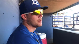 Las Vegas 51s catcher Jeff Glenn talks bullpen catching