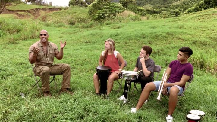 Dwayne Johnson and The Blue Devils Break It Down In Hawaii