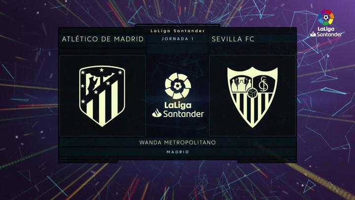 LaLiga Santander (J1): Resumen y goles de Atlético de Madrid 2-0 Sevilla