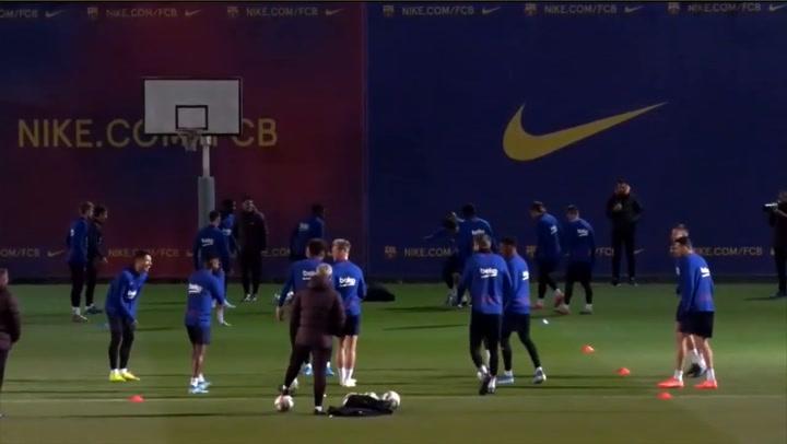 El Barça se entrena pensando en el partido ante el Celta de Vigo