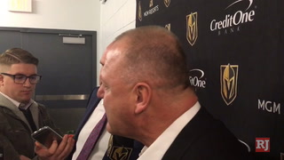 Golden Knights coach Gerard Gallant discusses loss to St. Louis Blues