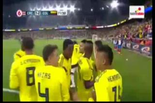 Juan Hernández anota el 2 - 1 de Colombia ante Costa Rica