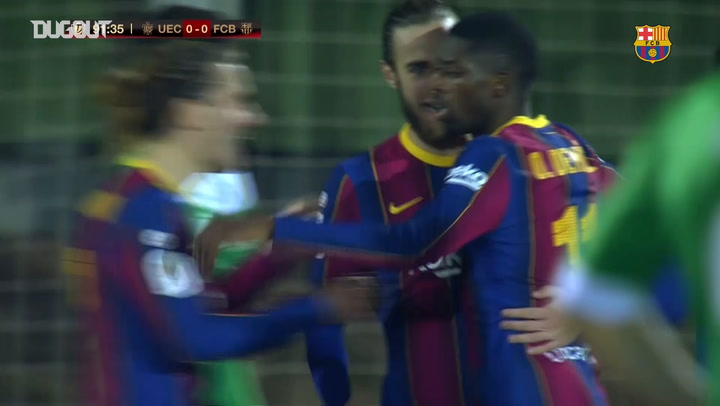 Ousmane Dembélé finds Barcelona's breakthrough against Cornella