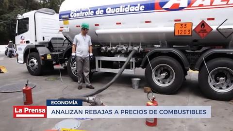 Analizan rebajas a precios de combustible