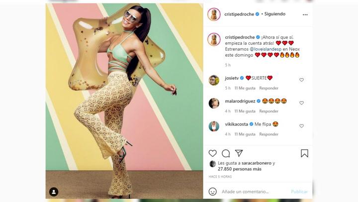 Cristina Pedroche anuncia la fecha de estreno de su nuevo reto televisivo