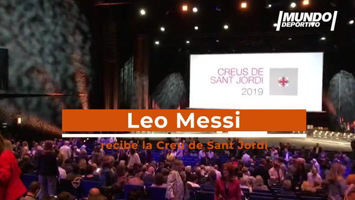 Así hemos vivido la entrega de la Creu de Sant Jordi a Leo Messi