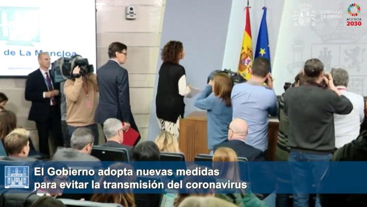 El Gobierno adopta nuevas medidas para evitar la transmisión del coronavirus