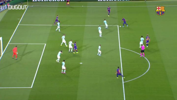 Gols do Barça na fase de grupos da Champions de 2019/20