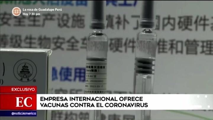 Alertan sobre empresa internacional que ofrece vacunas contra el coronavirus