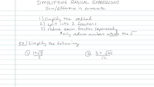 Simplifying Radical Expressions - Problem 10
