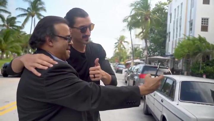 Djedovic  tomó las calles de Miami disfrazado de Ibrahimovic