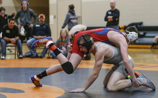 Travis Ostby's pin to win