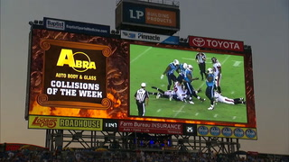 The NFL's largest end zone video screens light up LP Field