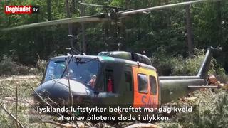 To jagerfly styrtet i Tyskland